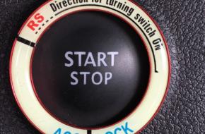 Декоративная накладка кнопки Старт/Стоп на Рено Каптур