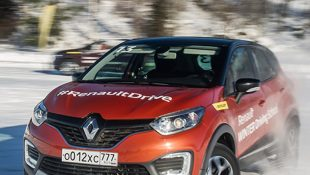 Новый Рено Каптур 2018 года на трассах Renault Winter Driving School